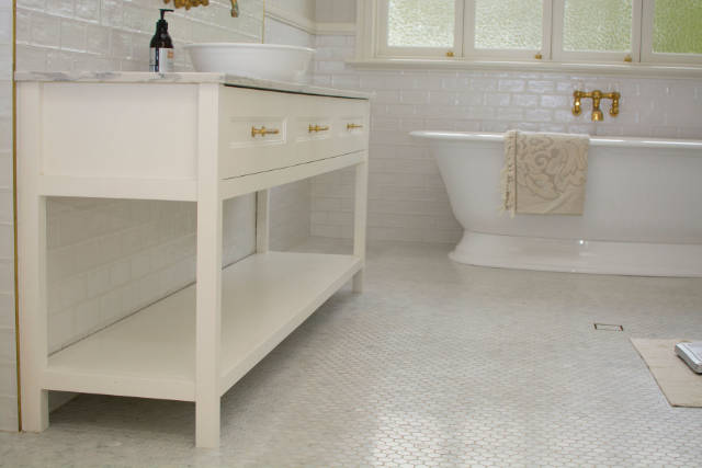 Custom Cabinet with marble benchtop