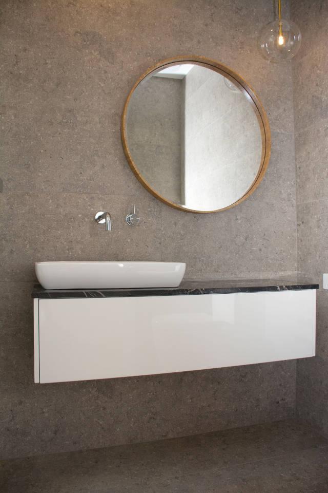Image of very modern vanity