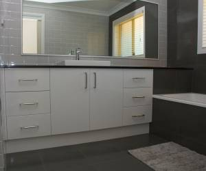 Quality Cabinetry in bathroom