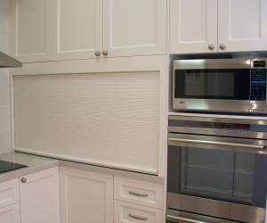 Appliances and breakfast bar door
